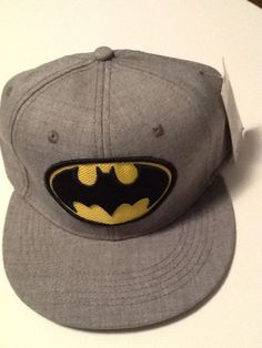 8dafd56025a Batman Hat Cap FITTED Baseball Flat Bill Brim Fitted Size 7-1 4  Bioworld   BaseballCap. Snapback Empire