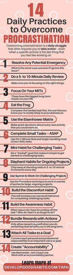 Procrastination: How to stop procrastinating in 14 steps. See more about overcoming procrastination in the new book The Anti-Procrastination Habit - by SJ Scott