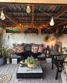 So a client sent this to me as an inspo for their backyard patio design. They wa… - Backyard Designs Outdoor Rooms, Outdoor Decor, Outdoor Patio Decorating, Lanai Decorating, Rustic Outdoor Spaces, Outdoor Living Patios, Screened Porch Decorating, Outdoor Hammock, Outdoor Balcony