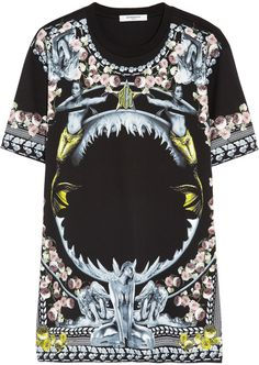 Givenchy Printed black cotton-jersey T-shirt on shopstyle.com.au