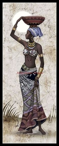 Ideas Black Art Painting Woman Beauty Portraits For 2019 Black Girl Art, Black Women Art, Art Girl, African Beauty, African Women, African Fashion, African Girl, African Art Paintings, Cross Paintings