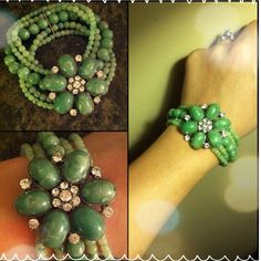 Green with envy statement bracelet Turn heads with this beautiful bracelet. It is a stretchable jade piece that is definitely one to add to your collection. Great for spring and summer. :) Jewelry Bracelets