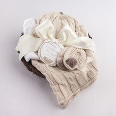 Feathering the Nest 4 Piece Layette Gift Set - Baby Shower Gift