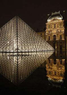 Paris, France (Le Louvre) - First date - didn't go in, decided to go drink wine instead :)