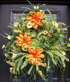 Door Wreaths Summer Wreath Petunia Wreath $165