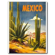 Mexico Vintage Travel Tourism Art Postcards