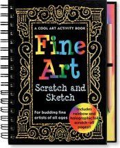 Fine Art Scratch & Sketch, tween and teen activity book. Perfect for long road trips or flights
