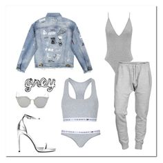 """""""Grey style"""" by laugarcini on Polyvore featuring Dsquared2, Yves Saint Laurent, GANT and Topshop"""