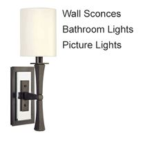 Lighting and Lamps - LookInTheAttic Bathroom Sconce Lighting, Bathroom Wall Sconces, Glass Hurricane Lamps, Antique Hardware, Mid-century Modern, Restoration, Wall Lights, Antiques, Home Decor