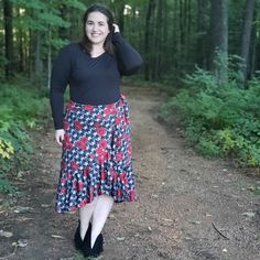 LuLaRoe Bella Review | The Bella only came in DTY fabric, or the slinky fabric you find in maxi skirts. I'm excited for this fabric in this skirt because it will provide movement  to the skirt. Additionally, it packs really well. You don't have to worry about DTY wrinkling. It's also fairly light in regards to weight. I'm always cutting it close with bag weights when flying! This is the perfect recipe for a vacation-worthy skirt!