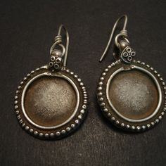 Old Tribal Silver Disc Pendants From Gujerat West India Around Mid 1900 S Originally Handcrafted