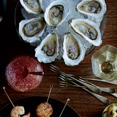 Raw Oysters with Cava Mignonette   The secret to Boston chef Matt Jennings's four-ingredient mignonette is cava, the Spanish sparkling wine.