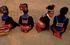 Hmong girls in Luang Prabang,Laos, October 2013