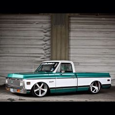 """Hot Wheels - Very cool C10 rocking that extreme big dish look with a nicely raked stance, so sweet, tag the owner/builder if you know, looks like a…"""