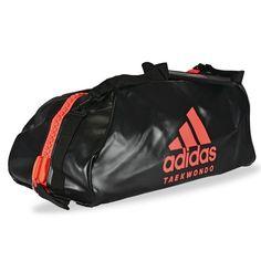 1fda4b3fc8070 Bolsa deporte Taekwondo ADIDAS Convertible en mochila Negro Naranja