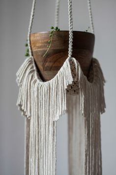 Macrame Plant Hanger in African Style
