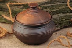 Homemade Pot With Lid For Baking Molded Of Red Clay And Kilned With Milk >>> Check this awesome image : Bakeware Bakeware, Kitchen Dining, Milk, Clay, Homemade, Baking, Red, Amazon, Awesome
