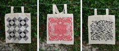 Tote bags- Petra Blahova screen printed design.