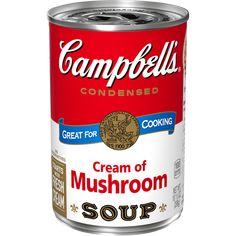 Honey Garlic Chicken - Campbell Soup Company Noodle Casserole, Green Bean Casserole, Creamy Mushroom Sauce, Mushroom Soup, Salisbury, Creamed Mushrooms, Stuffed Mushrooms, Pork Chops And Rice, Soup Recipes