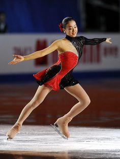 Mao Asada, Red Figure Skating / Ice Skating dress inspiration for Sk8 Gr8 Designs.