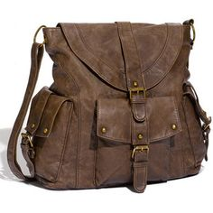 Crossbody bag. Simple and laidback, yet very practical and versatile.