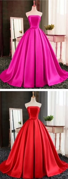 red prom dress, floor length prom dress, strapless prom dress, prom gown, prom beauty, pleats prom dress, long prom dress, red long prom dress, ball gown prom dress