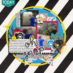 Oh Snap - Scrapbook.com | credits:  Best Day Ever Bundle by Amanda Yi & Melissa Bennett  and  Picture Perfect 86 by Aprilisa Designs