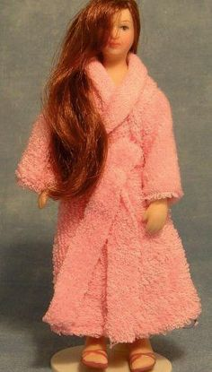 Poseable Lady in Robe, Porcelain Figure For 12th Scale Dolls Houses | Hobbies