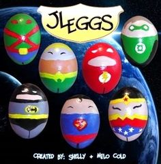 Justice League Superhero Easter Eggs by Shelly & Milo Cold at Gaming Angels
