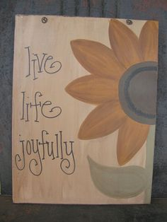 Primitive Sunflower Hand Painted Sign GCC4958