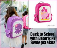 Beatrix NY Back To School Backpack Giveaway -Beatrix NY Back To School Backpack Giveaway WIN a Big Kids Backpack and a Lunch Box ($86 value) Ends 10/18