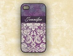 I pick this one...love it...Iphone 5s case 4 - Personalized iPhone 4s case monogrammed - Eggplant purple damask - Iphone 5 case, Iphone 5s, plastic silicone 5c  (9698)