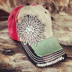 blingy flower baseball caps | Pin it Like Image