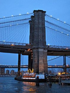 The River Cafe, under the Brooklyn Bridge NYC via flickr