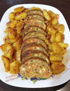 Gf Recipes, Oven Recipes, Greek Recipes, Baking Recipes, Greek Cooking, Fajitas, Ratatouille, Feta, Food And Drink