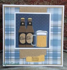 Pop Bottles, Glass Bottles, Marianne Design Cards, Fathers Day Cards, Punch Art, Paper Cutting, Banners, Beer, Creative