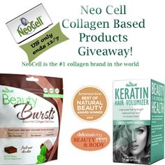 Enter to #WIN NeoCell's Collagen Based Products!!!  http://www.styledecordeals.com/2013/12/neocell-beauty-supplements-giveaway.html