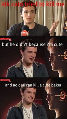 "peeta <3 ;) Omg today i saw a magazine that said ""hot boys"" and he was on the cover"