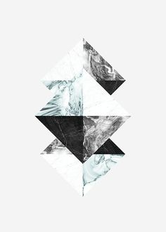 """Graphic poster """"Triangles"""" with marble print, Desenio. Graphic Prints, Graphic Art, Poster Prints, Art Prints, Art Posters, Graphic Posters, Desenio Posters, Scandinavian Art, Marble Print"""