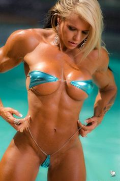 SEXY MUSCULAR TANNED DREAM BIKINI BODY of blonde #Fitness model Larissa Reis : if you LOVE Health, Bodybuilding & #Fitspiration - you'll LOVE the #Motivational designs at CageCult Fashion: http://cagecult.com/mma