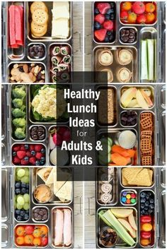 Healthy Lunch Ideas for Kids and Adults #weightlossmotivation Healthy Meals Delivered, Sauerkraut, Food Lists, Fritters, Lunch Box, Beignets, Bento Box, Hoe Cakes