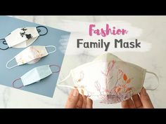 DIY oversized mask /Fashion Family Mask /Adult (oversize) ~ Child size f. Baby Sewing Projects, Sewing Projects For Beginners, Sewing Hacks, Sewing Tutorials, Sewing Art, Love Sewing, Easy Face Masks, Diy Face Mask, Discount Fabric Online