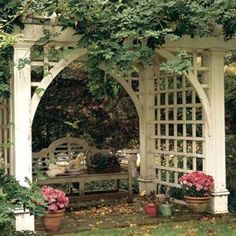 Image result for clothesline poles into Arbor
