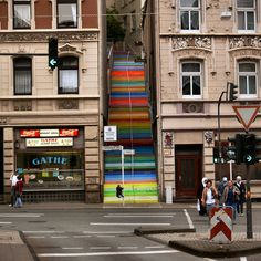 The Rainbow Colored Stairs of Wuppertal