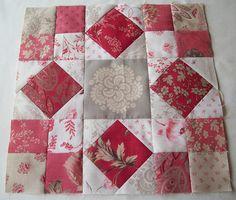 Red & White quilt.. I love.  French General fabric?  soft and beautiful.