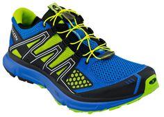 Men's Salomon XR Mission trail running shoe shown in Gray/Denim Yellow