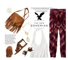 """""""The New Bohemian with American Eagle Outfitters: Contest Entry"""" by einn-enna ❤ liked on Polyvore featuring American Eagle Outfitters and aeostyle"""