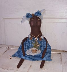 Black Folk Art & Americana Dolls by D.J. Walk on Etsy