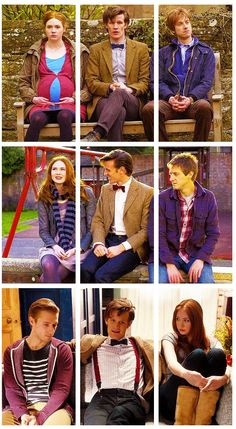 The power of three. Notice Rory always looks annoyed about the doctor sitting in the middle