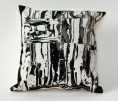 Hand Silkscreened Clay Shapes Pillow Cover